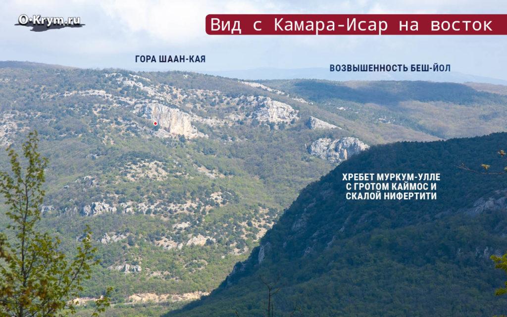 Вид с Камара-Исар на восток