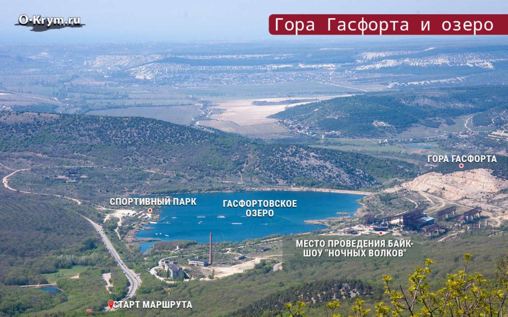 Гора Гасфорта и озеро