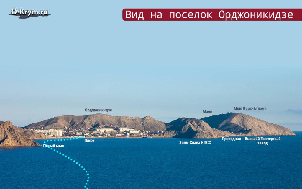 Вид на поселок Орджоникидзе
