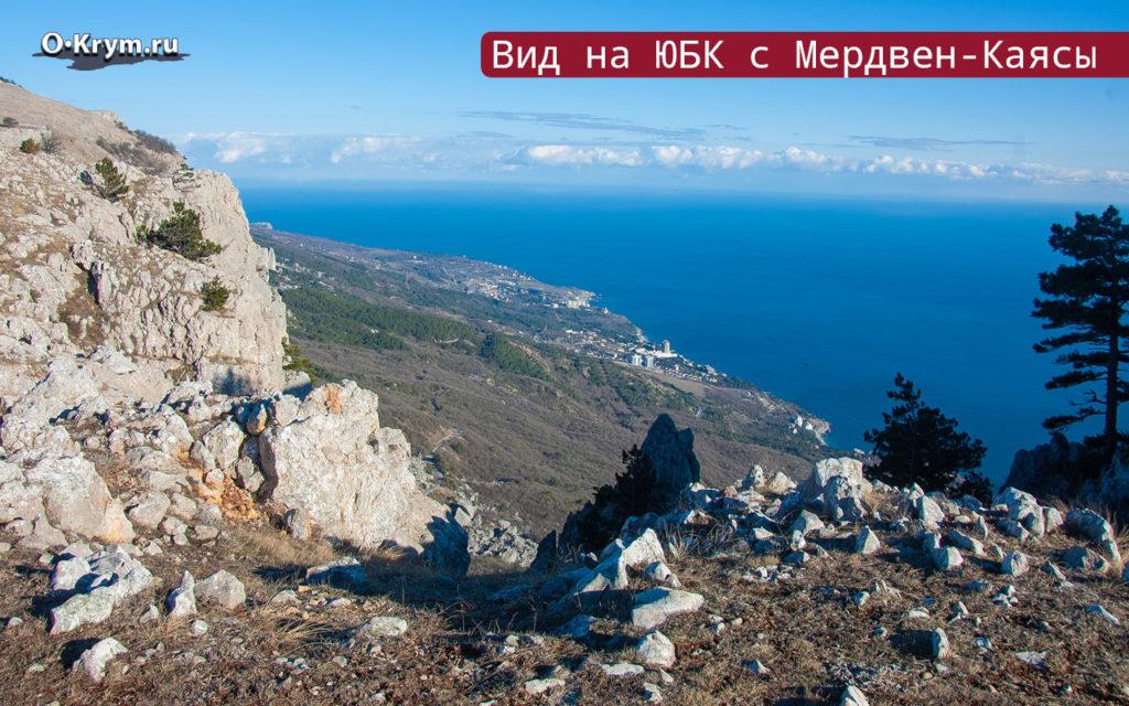 Вид на ЮБК с Мердвен-Каясы