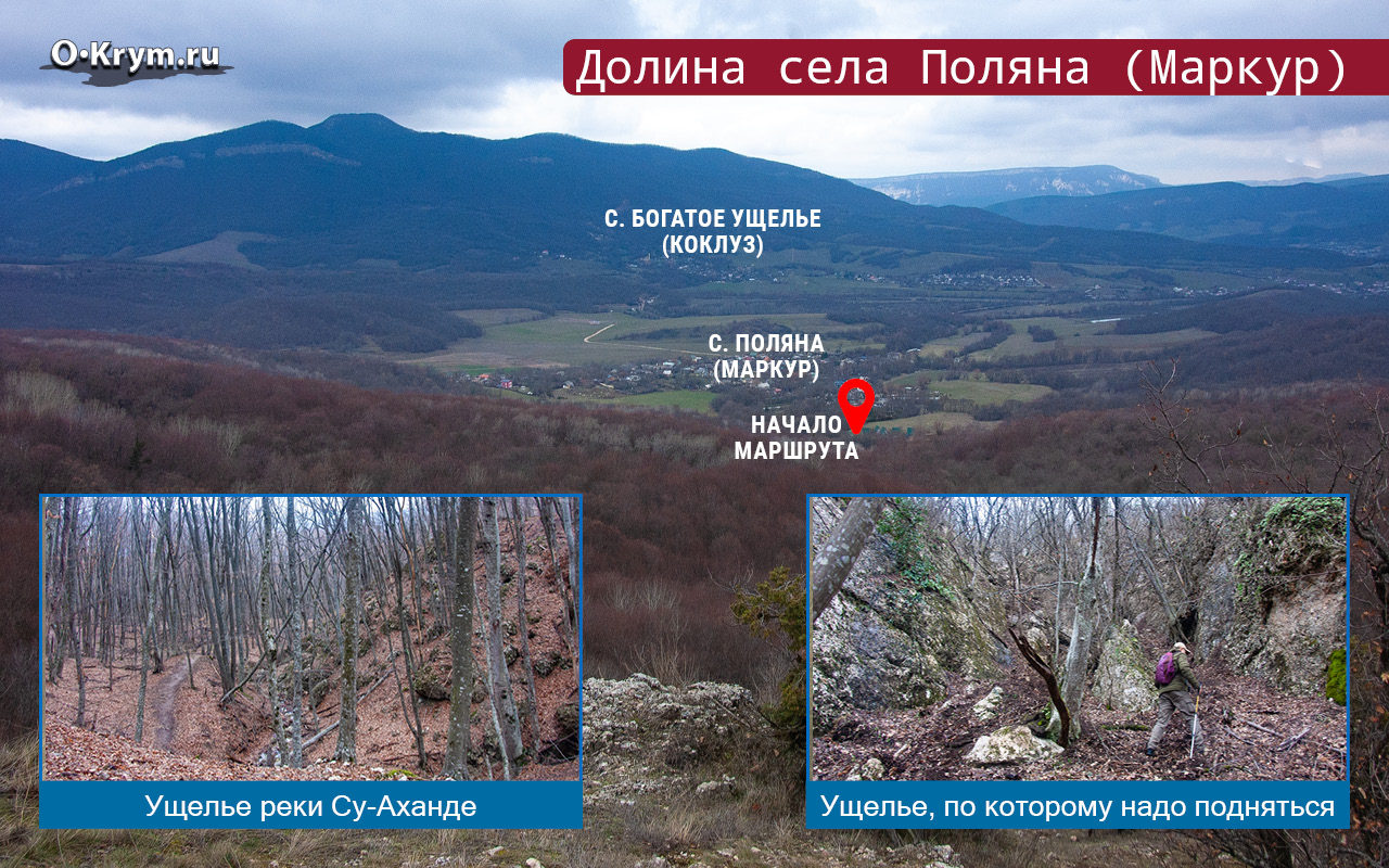 Долина села Поляна (Маркур)