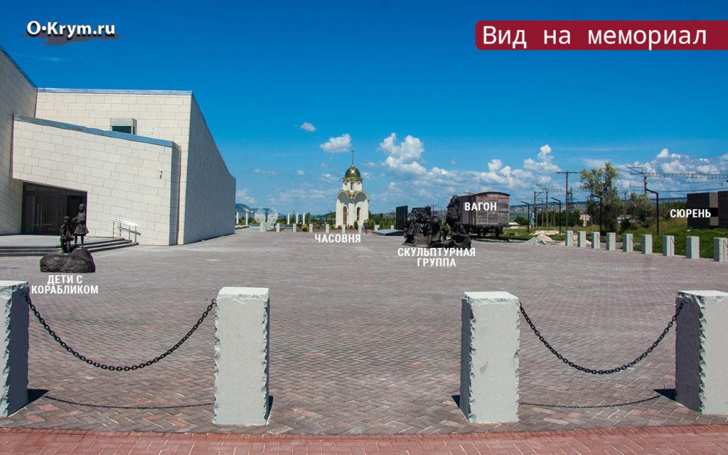 Вид на мемориальный комплекс