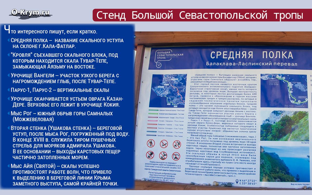 Стенд Большой Севастопольской тропы