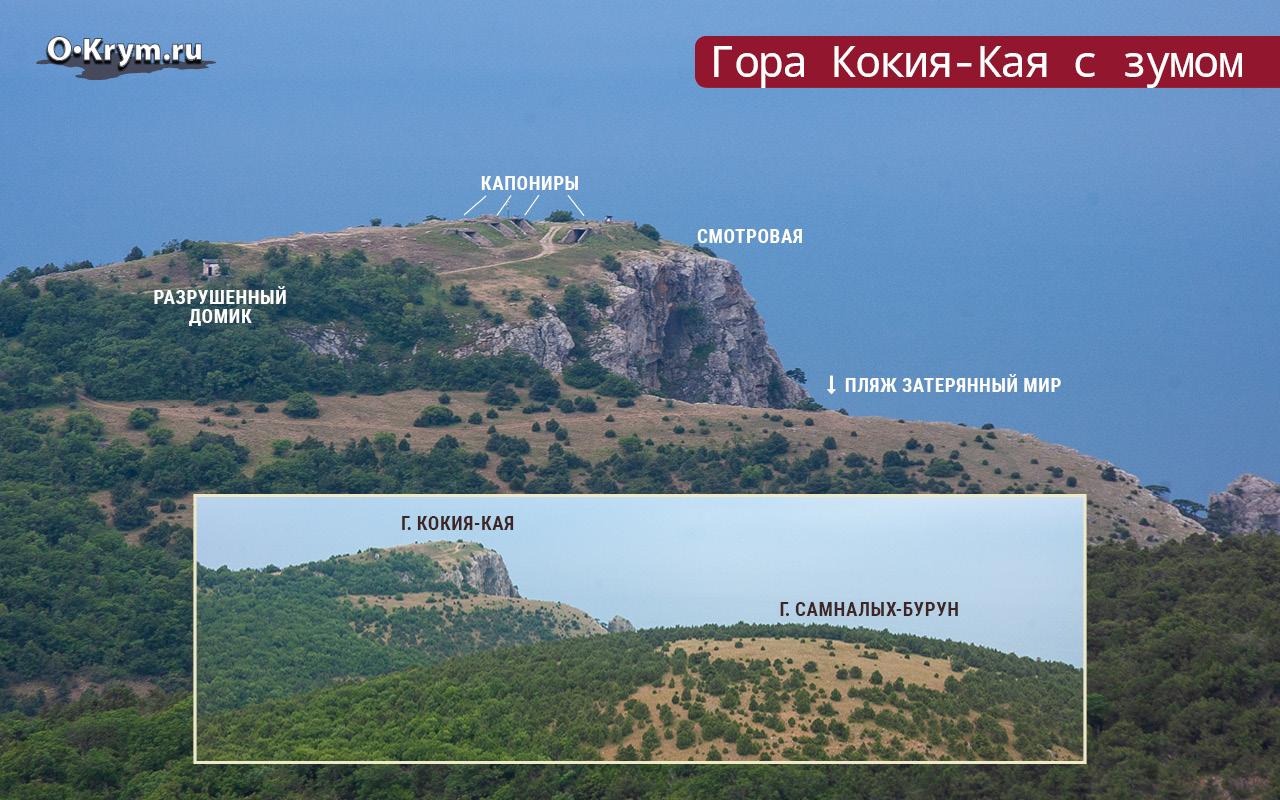 Гора Кокия-Кая с зумом